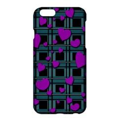 Purple Love Apple Iphone 6 Plus/6s Plus Hardshell Case by Valentinaart