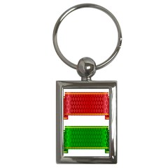 Christmas Banners Clipart Key Chains (rectangle)  by Onesevenart