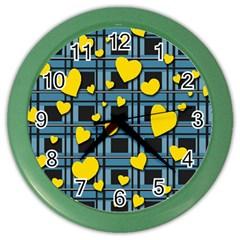 Love design Color Wall Clocks by Valentinaart