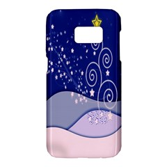 Christmas Tree Samsung Galaxy S7 Hardshell Case  by Onesevenart