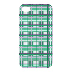 Green Plaid Pattern Apple Iphone 4/4s Hardshell Case by Valentinaart