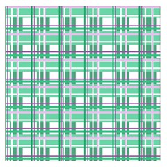 Green Plaid Pattern Large Satin Scarf (square) by Valentinaart