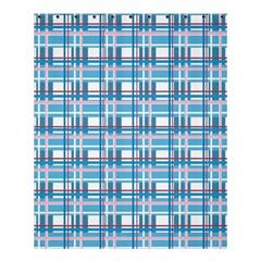 Blue Plaid Pattern Shower Curtain 60  X 72  (medium)  by Valentinaart