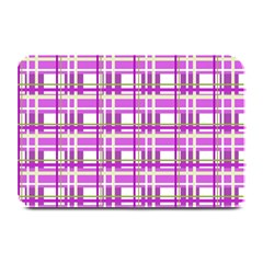 Purple Plaid Pattern Plate Mats by Valentinaart