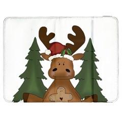 Christmas Moose Samsung Galaxy Tab 7  P1000 Flip Case by Onesevenart