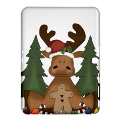 Christmas Moose Samsung Galaxy Tab 4 (10 1 ) Hardshell Case  by Onesevenart