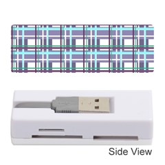 Decorative Plaid Pattern Memory Card Reader (stick)  by Valentinaart