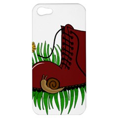 Boot In The Grass Apple Iphone 5 Hardshell Case by Valentinaart