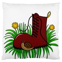 Boot In The Grass Standard Flano Cushion Case (one Side) by Valentinaart