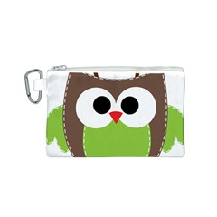 Clip Art Animals Owl Canvas Cosmetic Bag (s) by Onesevenart