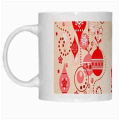 Christmas Clipart Wallpaper White Mugs by Onesevenart