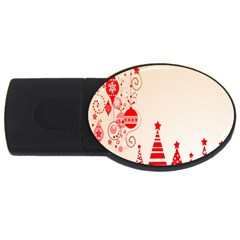 Christmas Clipart Wallpaper Usb Flash Drive Oval (4 Gb)  by Onesevenart