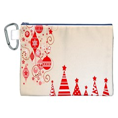Christmas Clipart Wallpaper Canvas Cosmetic Bag (xxl) by Onesevenart