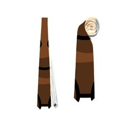 Elk Clip Art Reindeer Raindeer Elk Christmas Xmas Neckties (two Side)  by Onesevenart