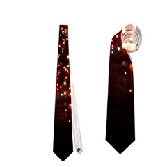 Holiday Lights Christmas Yard Decorations Neckties (Two Side)  by Onesevenart