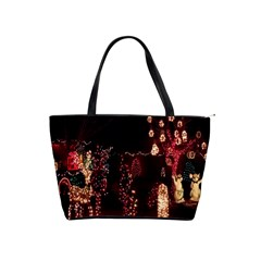 Holiday Lights Christmas Yard Decorations Shoulder Handbags by Onesevenart
