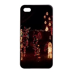 Holiday Lights Christmas Yard Decorations Apple Iphone 4/4s Seamless Case (black) by Onesevenart