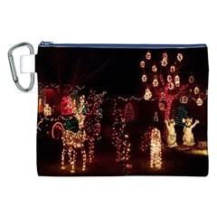Holiday Lights Christmas Yard Decorations Canvas Cosmetic Bag (xxl) by Onesevenart