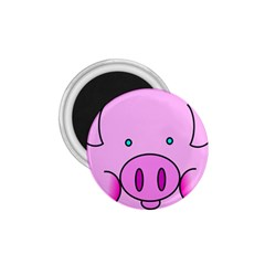 Pink Pig Christmas Xmas Stuffed Animal 1 75  Magnets by Onesevenart