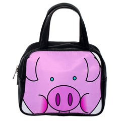 Pink Pig Christmas Xmas Stuffed Animal Classic Handbags (one Side) by Onesevenart