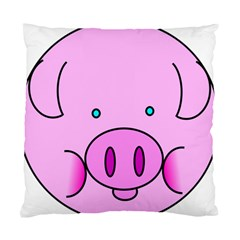 Pink Pig Christmas Xmas Stuffed Animal Standard Cushion Case (one Side) by Onesevenart