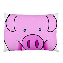 Pink Pig Christmas Xmas Stuffed Animal Pillow Case by Onesevenart