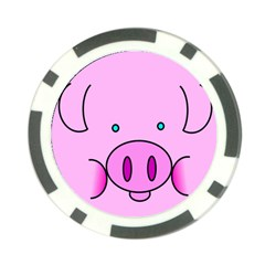 Pink Pig Christmas Xmas Stuffed Animal Poker Chip Card Guards (10 Pack)  by Onesevenart