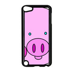 Pink Pig Christmas Xmas Stuffed Animal Apple Ipod Touch 5 Case (black) by Onesevenart