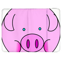 Pink Pig Christmas Xmas Stuffed Animal Samsung Galaxy Tab 7  P1000 Flip Case by Onesevenart