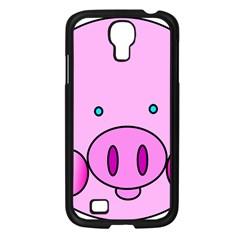 Pink Pig Christmas Xmas Stuffed Animal Samsung Galaxy S4 I9500/ I9505 Case (black) by Onesevenart