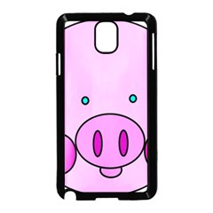 Pink Pig Christmas Xmas Stuffed Animal Samsung Galaxy Note 3 Neo Hardshell Case (black) by Onesevenart