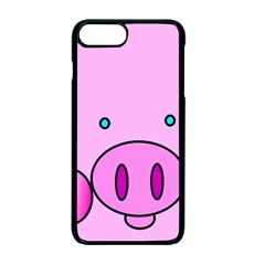 Pink Pig Christmas Xmas Stuffed Animal Apple Iphone 7 Plus Seamless Case (black) by Onesevenart