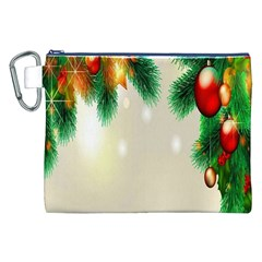 Ornament Christmast Pattern Canvas Cosmetic Bag (xxl) by Onesevenart