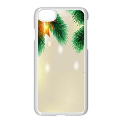 Ornament Christmast Pattern Apple Iphone 7 Seamless Case (white) by Onesevenart