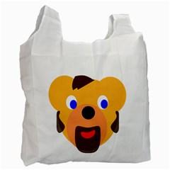 Solidarity Clipart Bear Head Teddy Bear Xmas Christmas Stuffed Animal Recycle Bag (two Side)  by Onesevenart