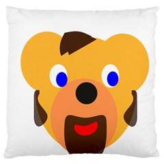 Solidarity Clipart Bear Head Teddy Bear Xmas Christmas Stuffed Animal Large Cushion Case (one Side) by Onesevenart