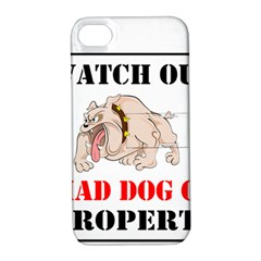 Watch Out Mad Dog On Property Apple Iphone 4/4s Hardshell Case With Stand by Onesevenart