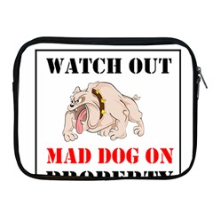 Watch Out Mad Dog On Property Apple Ipad 2/3/4 Zipper Cases by Onesevenart