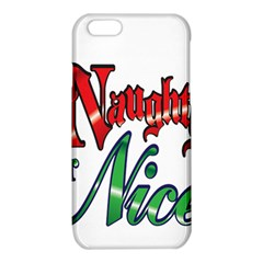 Vintage Christmas Naughty Or Nice iPhone 6/6S TPU Case by Onesevenart