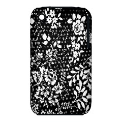 Vintage Black And White Flower Iphone 3s/3gs by Brittlevirginclothing