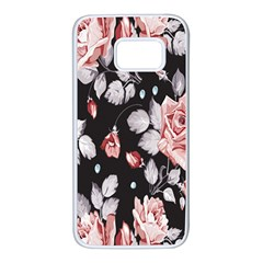 Vintage Colorful Flower  Samsung Galaxy S7 White Seamless Case by Brittlevirginclothing