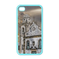 Exterior Facade Antique Colonial Church Olinda Brazil Apple Iphone 4 Case (color) by dflcprints
