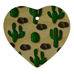 Cactuses Ornament (heart)  by Valentinaart