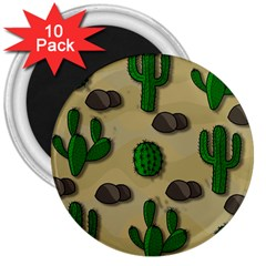 Cactuses 3  Magnets (10 Pack)  by Valentinaart