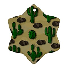 Cactuses Snowflake Ornament (2 Side) by Valentinaart
