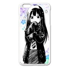Shy Anime Girl Apple iPhone 6 Plus/6S Plus Enamel White Case