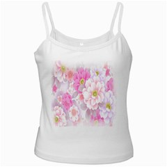 Cute Pink Flower Pattern  Ladies Camisoles by Brittlevirginclothing
