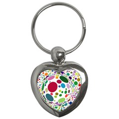 Color Balls Key Chains (heart)  by AnjaniArt