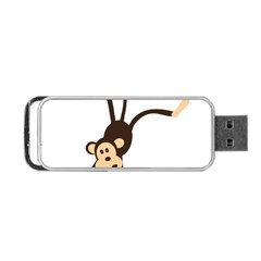 Colorful Animal Monkey Portable Usb Flash (two Sides) by AnjaniArt