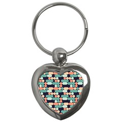 Coral Mint Color Style Key Chains (heart)  by AnjaniArt